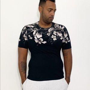 Zara Men Floral Shirt Short Sleeve